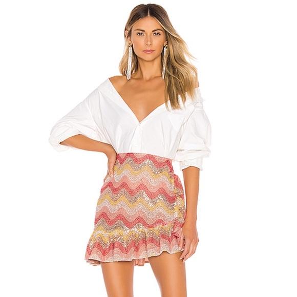 "NBD Dresses & Skirts - REVOLVE ""NBD"" Zinnia Embroidered Mini Skirt"